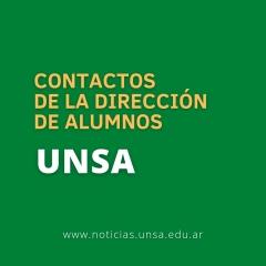 Leer más:UNSa: Contactos de la Dirección de Alumnos