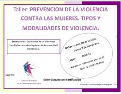Leer más:Taller Prevención de la violencia contra las mujeres. Tipos y modalidades de violencia
