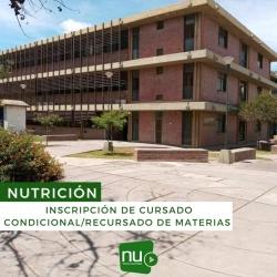 Leer más:Nutrición: inscripción de cursado Condicional/Recursado