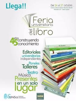 Leer más:En octubre se realizará la Feria Universitaria del Libro
