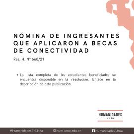 Leer más:Humanidades: Becas de Conectividad