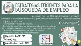 Leer más:Taller: Estrategias eficientes para la búsqueda de empleo
