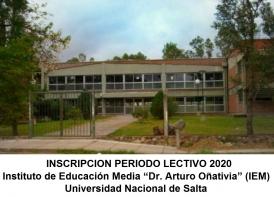 Leer más:IEM: Inscripción Periodo Lectivo 2020