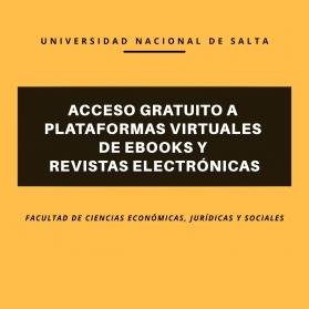 Leer más:Acceso gratuito a las plataformas virtuales de EBooks y Revistas Electrónicas