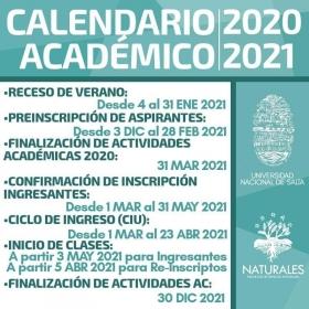 Leer más:Calendario Académico 2020/2021