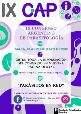 Leer más:En mayo 2022 se realizará el IX Congreso de Parasitología en Salta