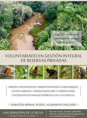 Leer más:Voluntariado en Gestión Integral de Reservas Privadas