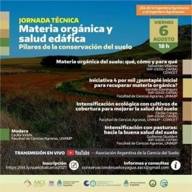 Leer más:Jornada Técnica: Materia orgánica y salud edáfica: Pilares de la conservación del suelo.