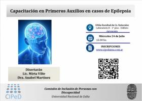 Leer más:UNSa: Capacitación en Primeros Auxilios en casos de Epilepsia