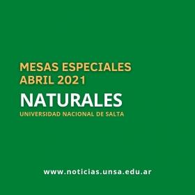 Leer más:Naturales: Mesas especiales habilitadas para abril