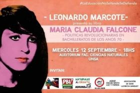 """Leer más:Presentación del libro """"María Claudia Falcone"""""""