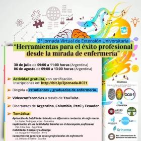 Leer más:2º Jornada Virtual de Extensión Universitaria: Herramientas para el éxito profesional desde la...