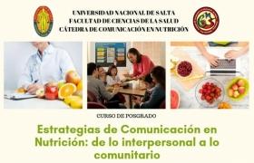 Leer más:Estrategias de Comunicación en Nutrición para profesionales de la Salud en la U.N.Sa.