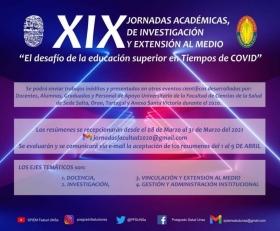 Leer más:XIX Jornadas académicas, de investigación y extensión al medio de la Facultad de Salud