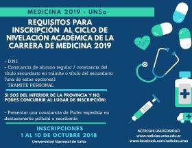 Leer más:Medicina 2019 UNSa