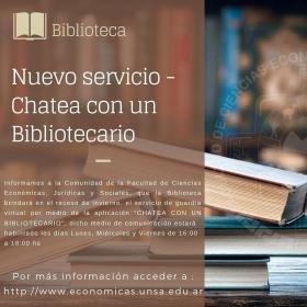 Leer más:CHATEA CON UN BIBLIOTECARIO