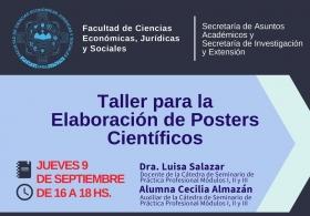 """Leer más:Taller """"Elaboración y Diseño de Posters Científicos"""""""