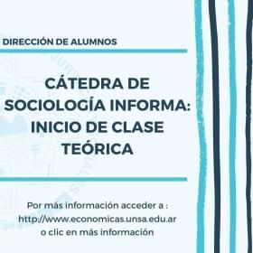 Leer más:Económicas: Inicio de clase teórica de Sociología