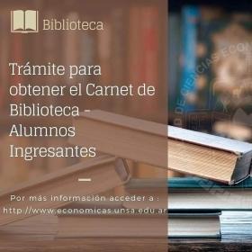 Leer más:Trámite para el Carnet de la Biblioteca de Económicas