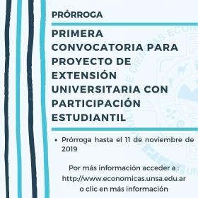 Leer más:Primera convocatoria para Proyecto de Extensión Universitaria con participación estudiantil