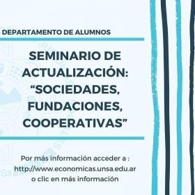 """Leer más:Hoy seminario de Actualización: """"Sociedades, Fundaciones, Cooperativas"""""""