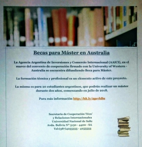 Leer más:Becas para Máster en Australia