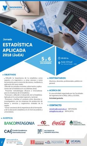 Leer más: 1era. Jornada de Estadística Aplicada 2018