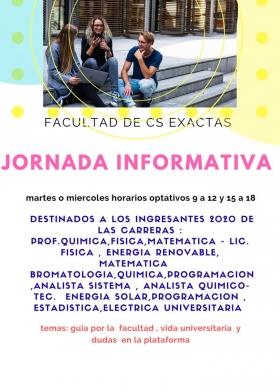 """Leer más:""""Jornada Informativa"""" para ingresantes a la Facultad de Ciencias Exactas"""