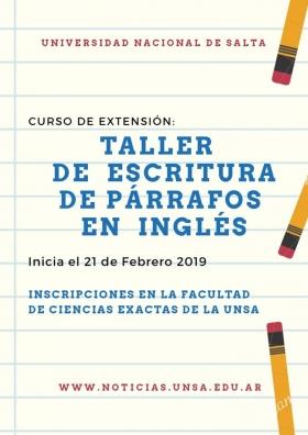 Leer más: Curso de Extensión: Taller de escritura de párrafos en inglés