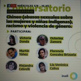 Leer más:Conversatorio Chineo Abusos sexuales sobre mujeres y niñas indígenas racismo y violencia de género