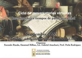 Leer más:Ciclo de conversatorios virtuales: Investigando en tiempos de pandemia global
