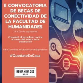 Leer más:Convocatoria a becas de conectividad en Humanidades