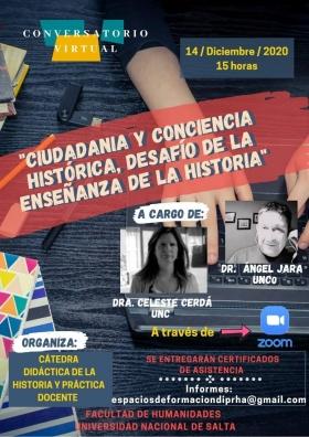 """Leer más:2° CONVERSATORIO: """"Ciudadanía y conciencia histórica. Desafío de la enseñanza de la Historia"""""""