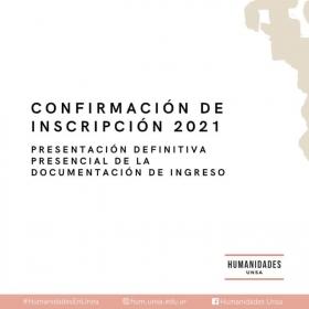 Leer más:PRESENTACIÓN DEFINITIVA PRESENCIAL DE LA DOCUMENTACIÓN DE INGRESO