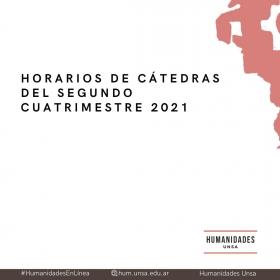 Leer más:HORARIOS DE CLASES 2021 - MODALIDAD VIRTUAL