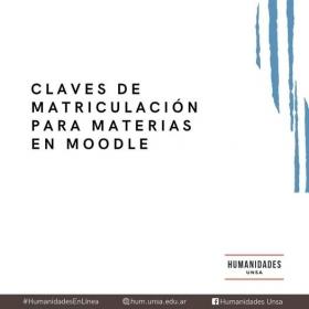 Leer más:Humanidades: Claves de matriculación para Moodle