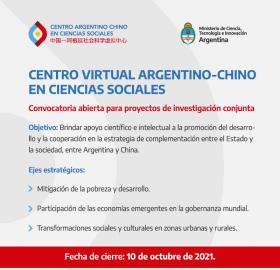 Leer más:Centro Virtual Argentino-Chino en Ciencias Sociales: Convocatoria para proyectos de investigación...