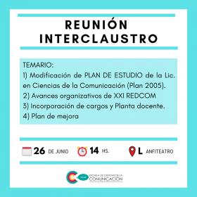Leer más:Reunión Interclaustro
