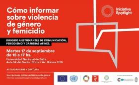 Leer más:Taller: Cómo informar sobre violencia de género y femicidio
