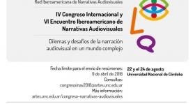 Leer más:IV Congreso Internacional y VI Encuentro Iberoamericano de Narrativas Audiovisuales