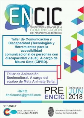 Leer más:Inscripciones para talleres Pre-ENCIC 2018