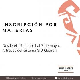 Leer más:Humanidades: Inscripción por materias