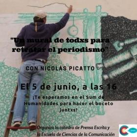 """Leer más:Semana del Periodista: """"Un mural de todos para retratar el periodismo"""""""