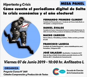 Leer más:Mesa Panel: Cómo cuenta el periodismo digital de Salta la crisis económica y el año electoral