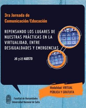 Leer más:3ra Jornada de Comunicación / Educación