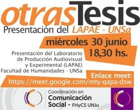 Leer más:Hoy LAPAE compartirá experiencias de tesis de producción audiovisual