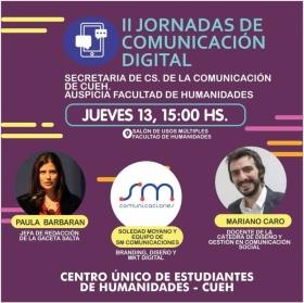 """Leer más:Este jueves inicia la """"II Jornada de Comunicación Digital"""" en la UNSa"""