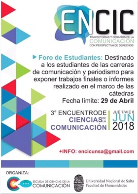 Leer más:Presentaciones de resúmenes ENCIC 2018