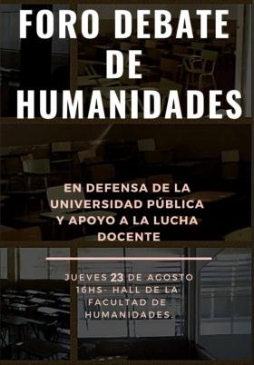 Leer más:Foro Debate en la Facultad de Humanidades
