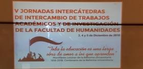 Leer más:V JORNADAS INTERCÁTEDRAS DE INTERCAMBIO DE TRABAJOS ACADÉMICOS Y DE INVESTIGACIÓN DE LA FACULTAD...